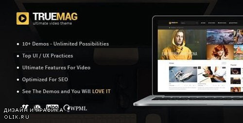 ThemeForest - True Mag v4.2.19 - WordPress Theme for Video and Magazine - 6755267