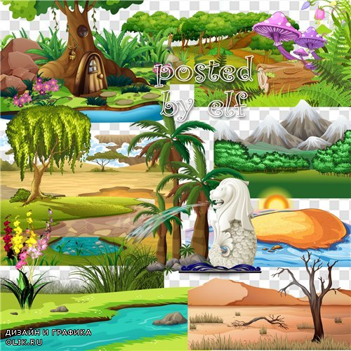 Png клипарт на прозрачном фоне - Элементы пейзажа