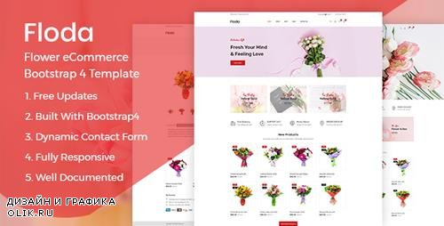 ThemeForest - Floda v1.0 - Flower Shop HTML Template - 23720813