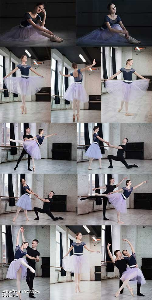 Артисты балета - Растровый клипарт / Ballet Artists - Raster clipart