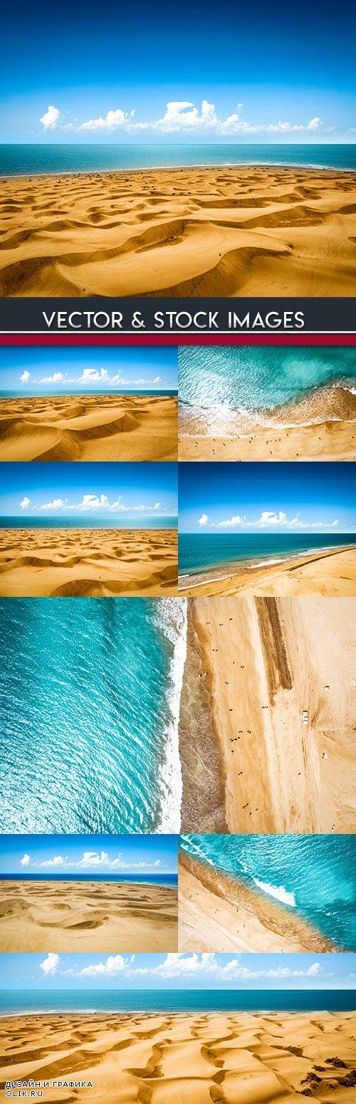 Summer beach and blue sky tropical sea tour