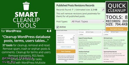 CodeCanyon - Smart Cleanup Tools v4.8 - Plugin for WordPress - 3714047