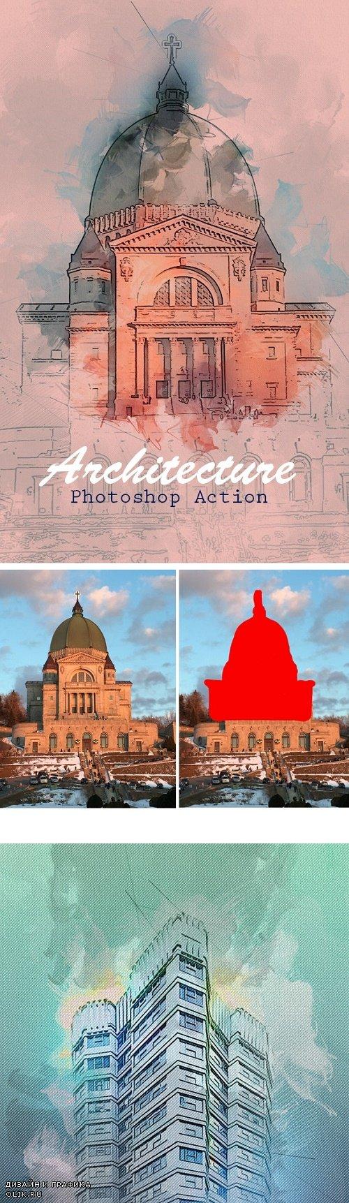 Architecture Photoshop Action 23667924