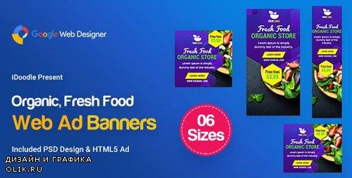 CodeCanyon - C48 - Organic, Fresh Food Banners GWD & PSD - 23888112