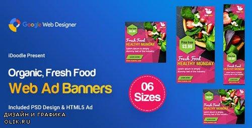 CodeCanyon - C47 - Organic, Fresh Food Banners GWD & PSD - 23888110