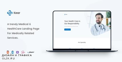 ThemeForest - Kear v1.0 - Medical & Healthcare Landing Page Template - 23606002