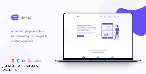 ThemeForest - Siena v1.2 - Marketing Landing Page Template - 23229298