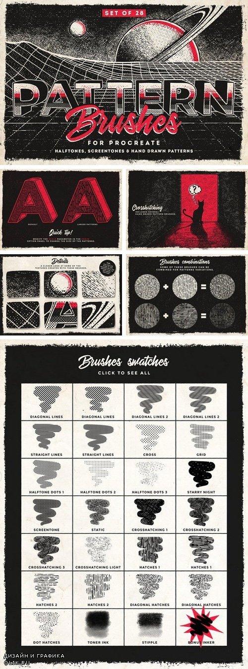 Pattern Procreate brushes 1924475