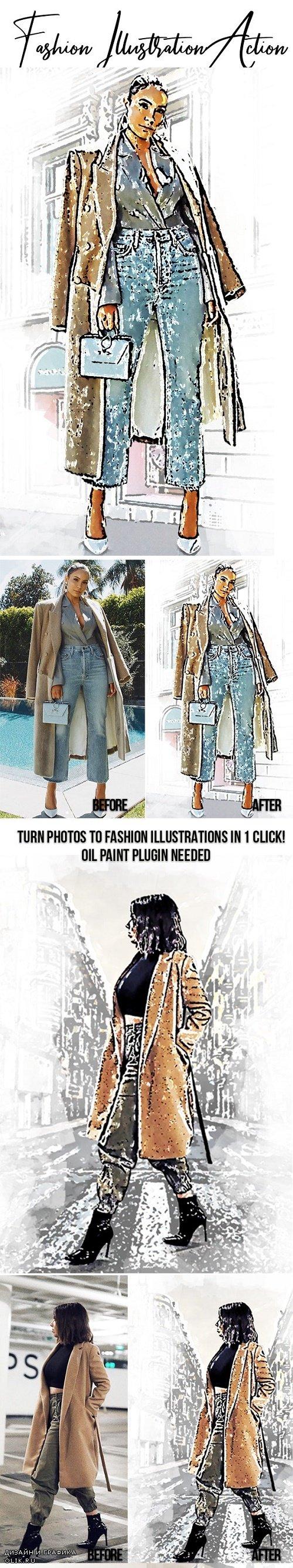 Fashion Illustration Effect 23766073
