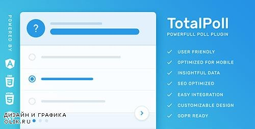 CodeCanyon - TotalPoll Pro v4.0.5 - Responsive WordPress Poll Plugin - 7647147 - NULLED