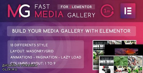 CodeCanyon - Fast Media Gallery For Elementor v1.0 - WordPress Plugin - 23904852