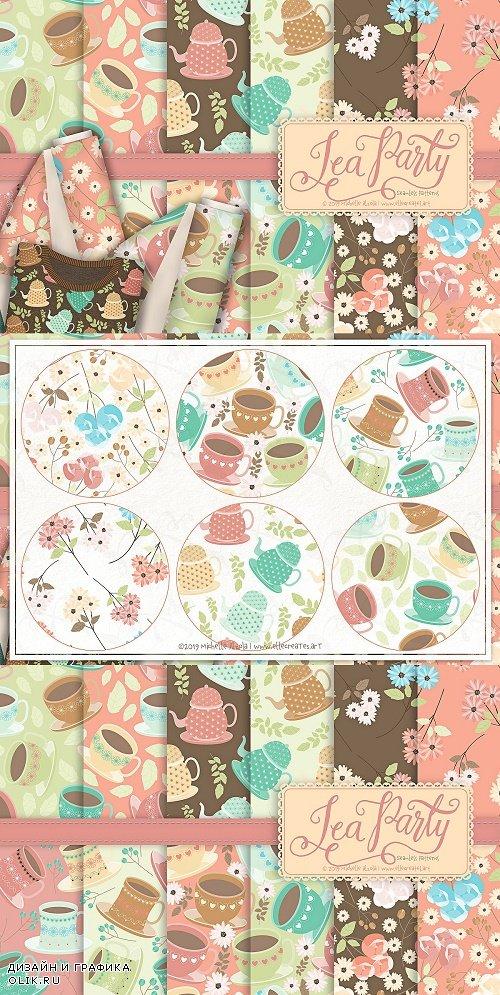 Tea Party 01 - Seamless Patterns - 3815983