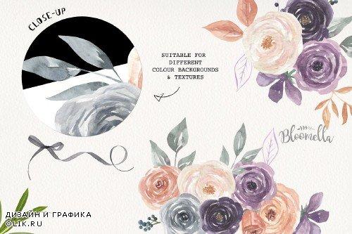 Mystical Watercolor 8 Purple Floral - 3826147