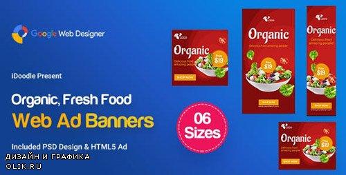 CodeCanyon - C52 - Organic, Fresh Food Banners GWD & PSD - 23899065