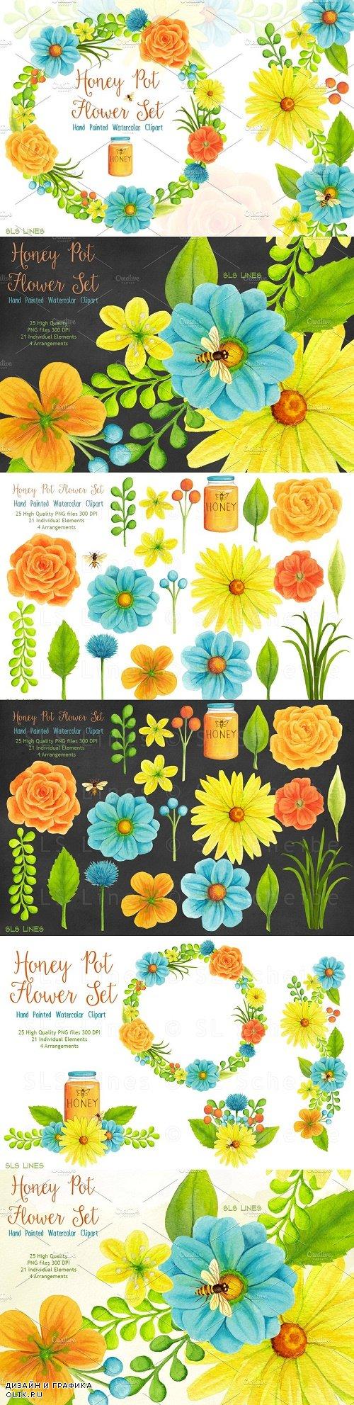 Honey Pot Flower Set - 412711