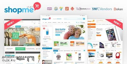 ThemeForest - ShopMe v1.4.7 - Multi Vendor Woocommerce WordPress Theme - 12701244 - NULLED
