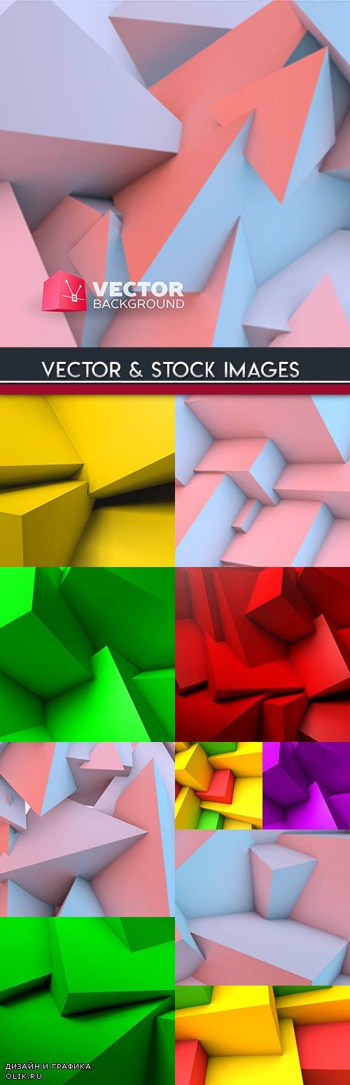 3d geometric polygon creative cube background