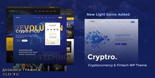ThemeForest - Cryptro v1.3.2 - Cryptocurrency, Blockchain , Bitcoin & Financial Technology WordPress Theme - 21720716