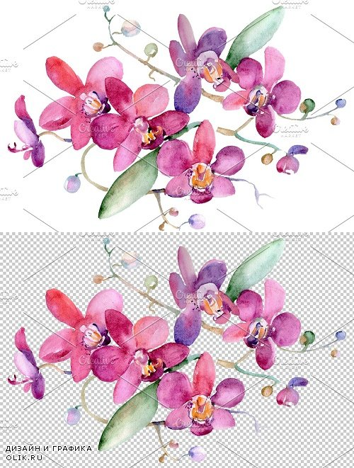 Bouquet pink Jessica watercolor png - 3836738