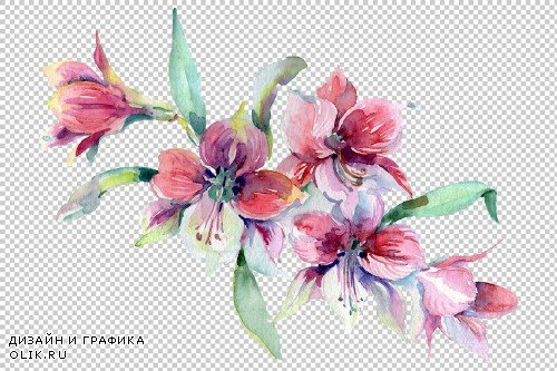 Wildflowers morning dawn watercolor - 3835871