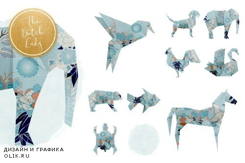 Origami Animals Clipart Set - 3833833