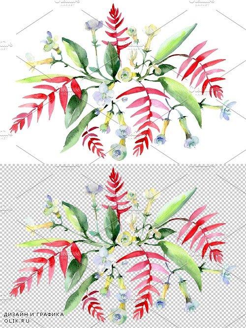 Bouquet Ariel watercolor png - 3836918