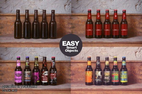 Wood Shelf | Beer Mockup - 253365