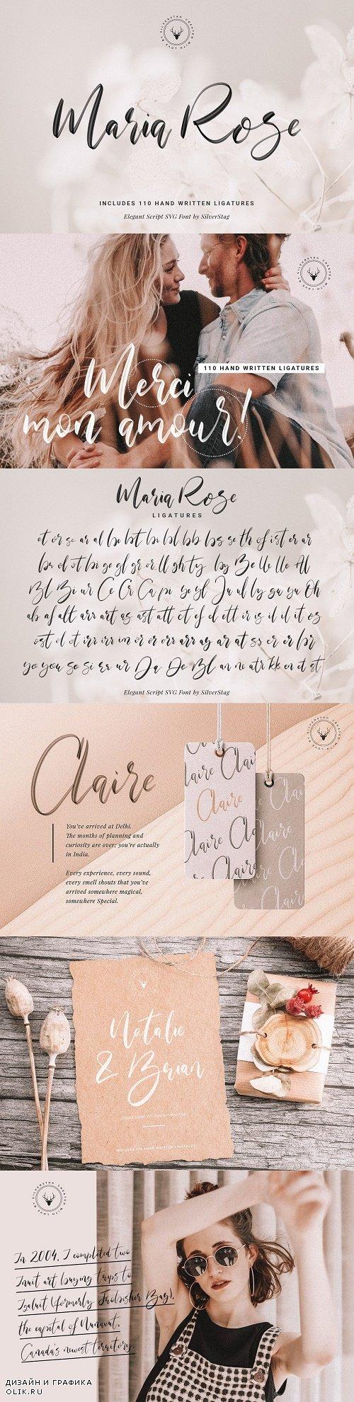 Maria Rose Elegant Script SVG Font 3727769