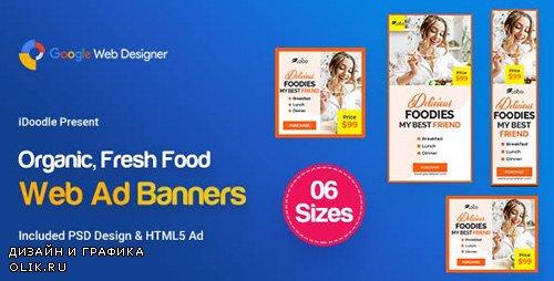 CodeCanyon - C54 - Organic, Fresh Food Banners GWD & PSD - 23909297