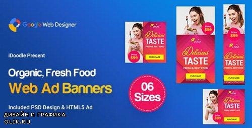 CodeCanyon - C56 - Organic, Fresh Food Banners GWD & PSD - 23909302