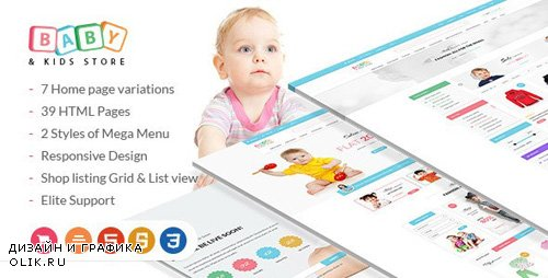 ThemeForest - Baby & Kids Store - eCommerce HTML Template with RTL Package (Update: 15 March 16) - 12637993