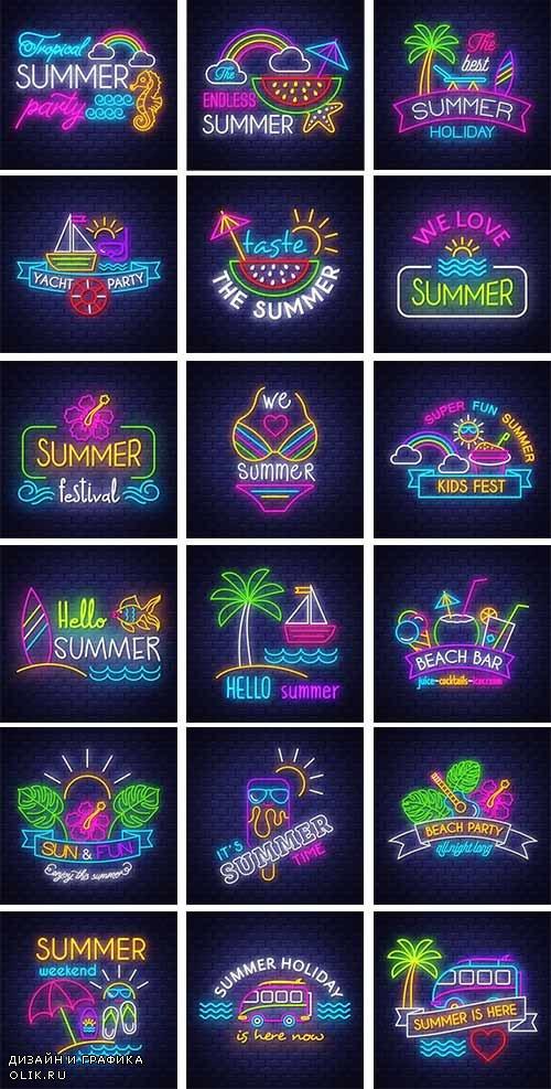 Здравствуй лето - 14 - Векторный клипарт / Hello summer - 14 - Vector Graphics