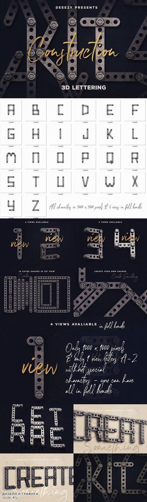 Construction Kit 3D Lettering - 3838726