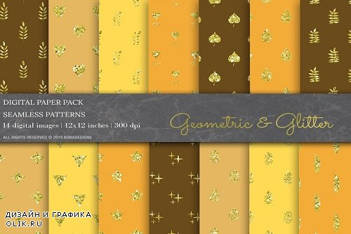 Glitter Geometric Digital Papers - 3808944