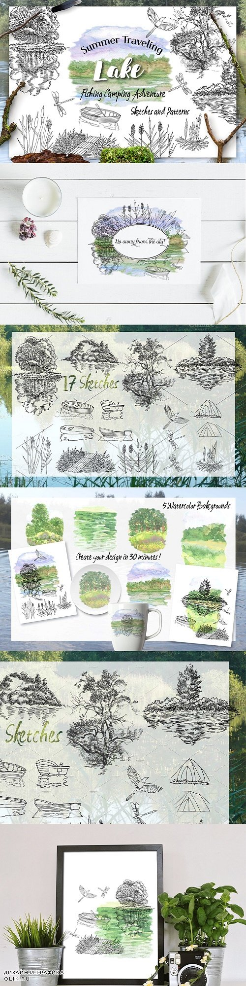 Summer on the Lake. Sketches - 2392137