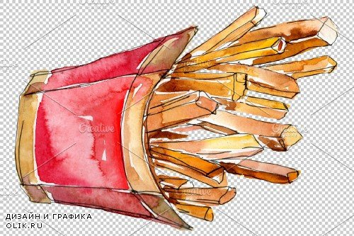 French fries with sauce on Ukrainian - 3843826
