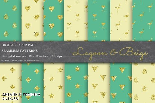 Glitter Geometric Digital Papers - 3791528