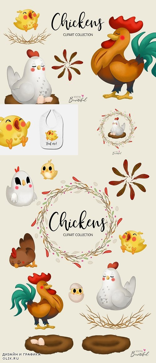 Chickens Clipart Collection - 3850346