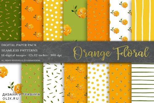 Watercolor Floral Digital Paper - 3786013