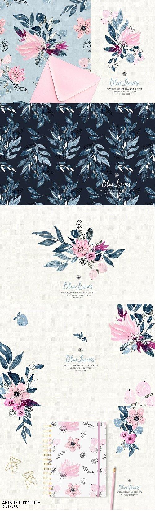 Blue Leaves - 3841584