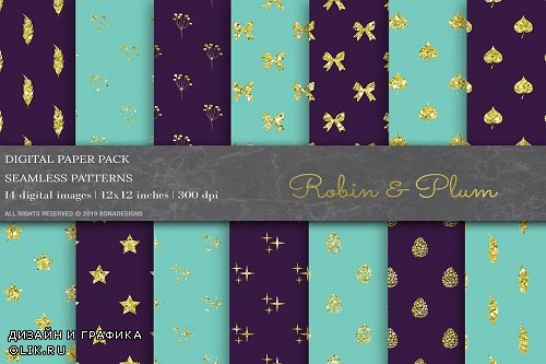 Glitter Geometric Digital Papers - 3799162