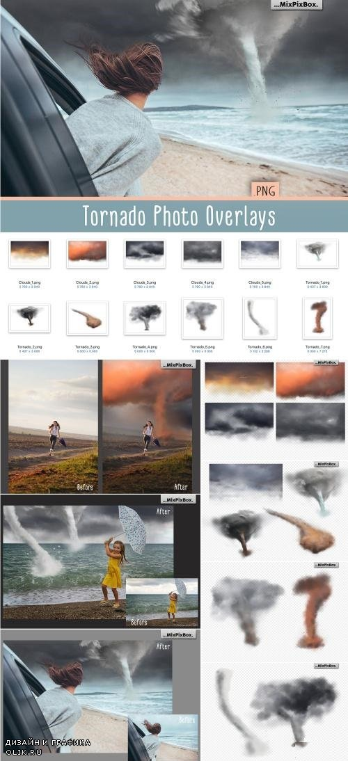 Tornado Photo Overlays - 3843985