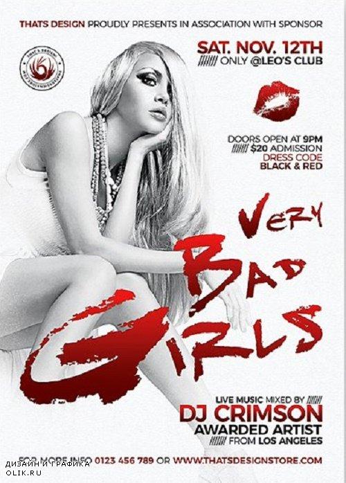 Bad Girls Flyer Template - 241541