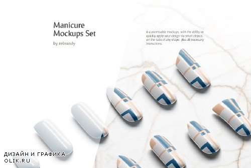 Manicure Mockups Set - 3763024