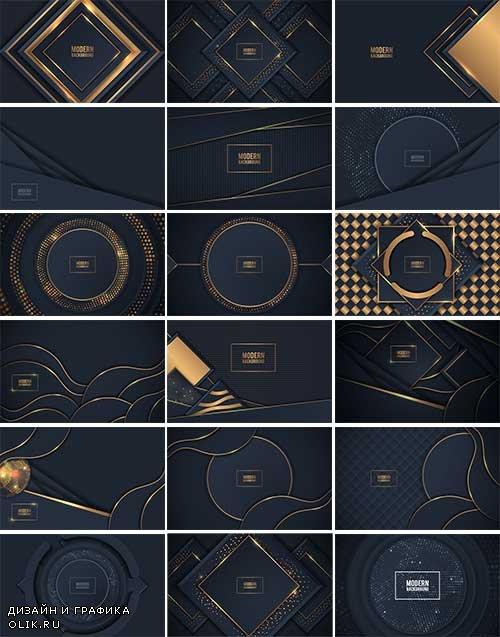 Красивые тёмные фоны - Векторный клипарт  / Beautiful dark backgrounds - Vector Graphics