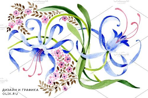 Ornament from a flower plant - 3867815