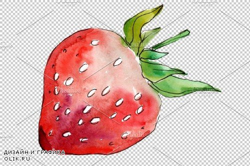 Strawberry Marmolada watercolor png - 3865139