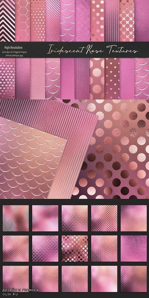 Rose Gold Iridescent Foil Textures - 3522338