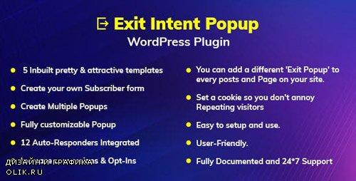 CodeCanyon - Exit Intent Popup WordPress Plugin v1.0.0 - 23997572