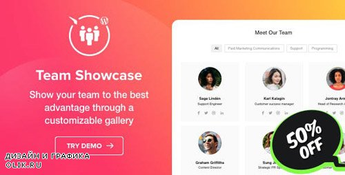CodeCanyon - Team Showcase v1.0.0 - WordPress Team Showcase plugin - 23998631